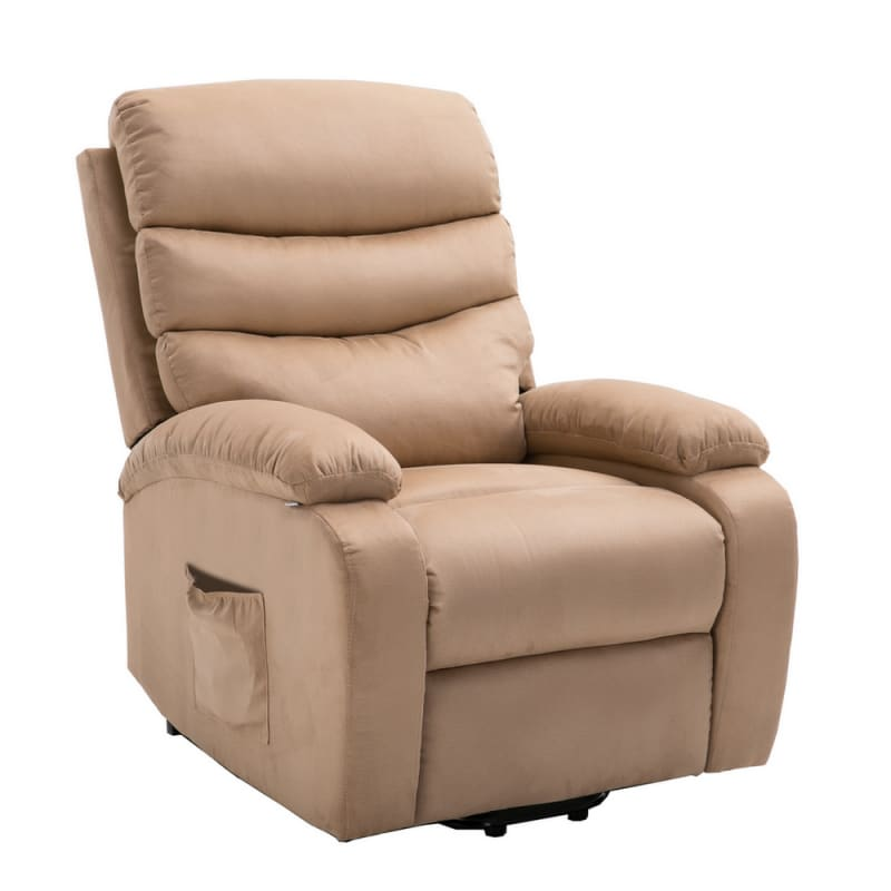 Pleasant Homegear Microfibre Power Lift Electric Riser Recliner Chair With Massage Heat And Vibration With Remote Taupe Machost Co Dining Chair Design Ideas Machostcouk