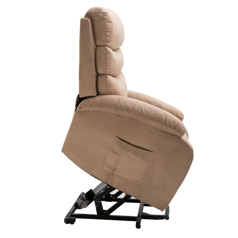 Cool Homegear Microfiber Power Lift Electric Recliner Chair With Massage Heat And Vibration With Remote Taupe Gamerscity Chair Design For Home Gamerscityorg