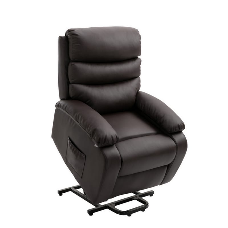 Homegear PU Leather Power Lift Electric Recliner Chair with Massage, Heat and Vibration with Remote - Brown #1