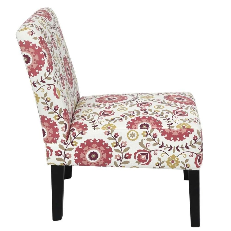 Homegear Home Furniture Accent Armless Chair - Contemporary Designs - Floral #3