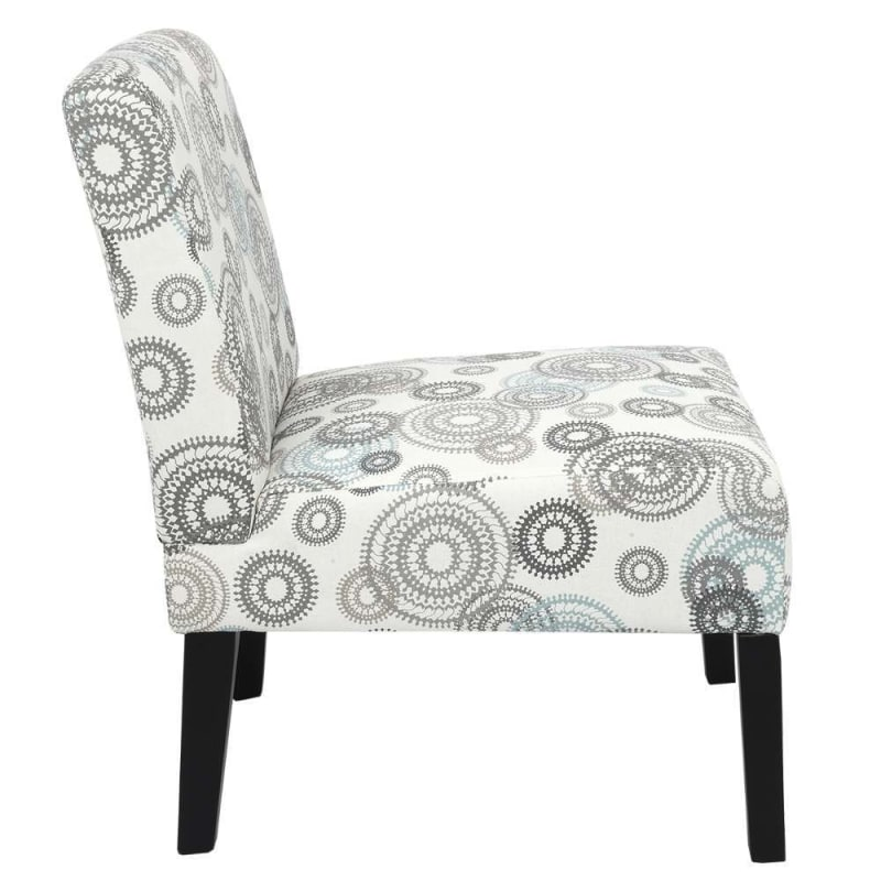 Homegear Home Furniture Accent Armless Chair - Contemporary Designs - Mechanical Gears #2