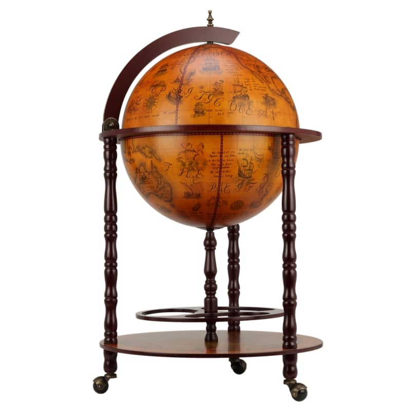 OPEN BOX Homegear Globe Bar Drinks Cabinet