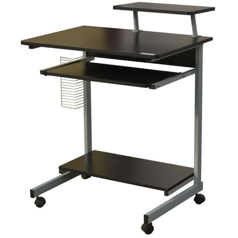 Homegear Compact Home Office Computer Desk on Wheels Black #2