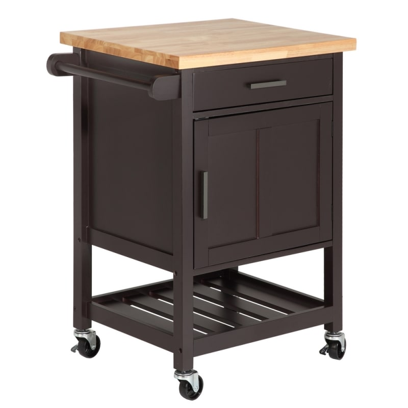OPEN BOX Homegear Compact Kitchen Storage Cart Island Brown