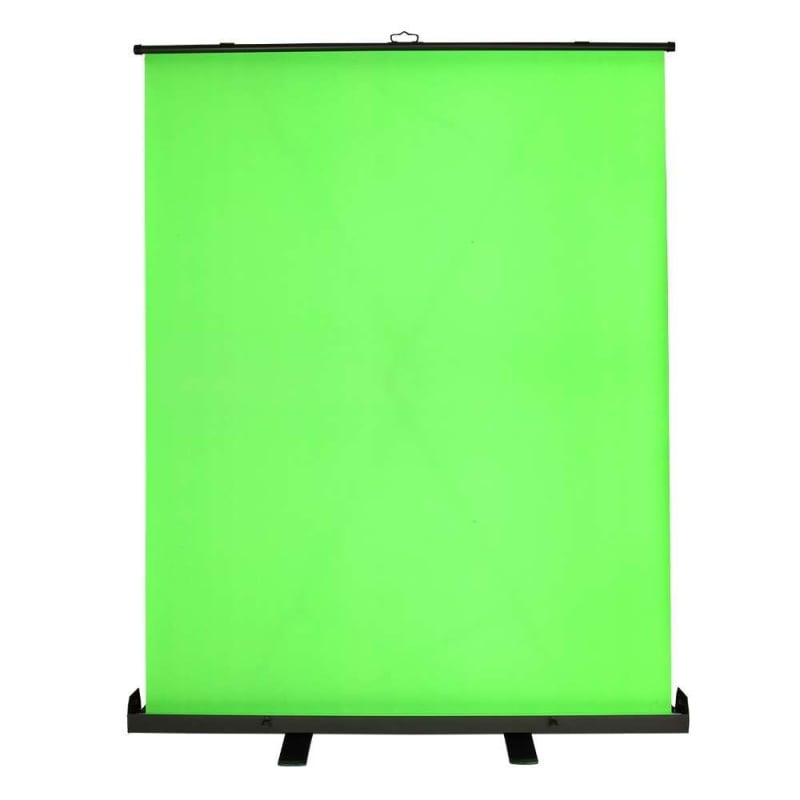 EX-DEMO Homegear Portable Pull Up Green Screen Video Photography Background 1.5m x 2m