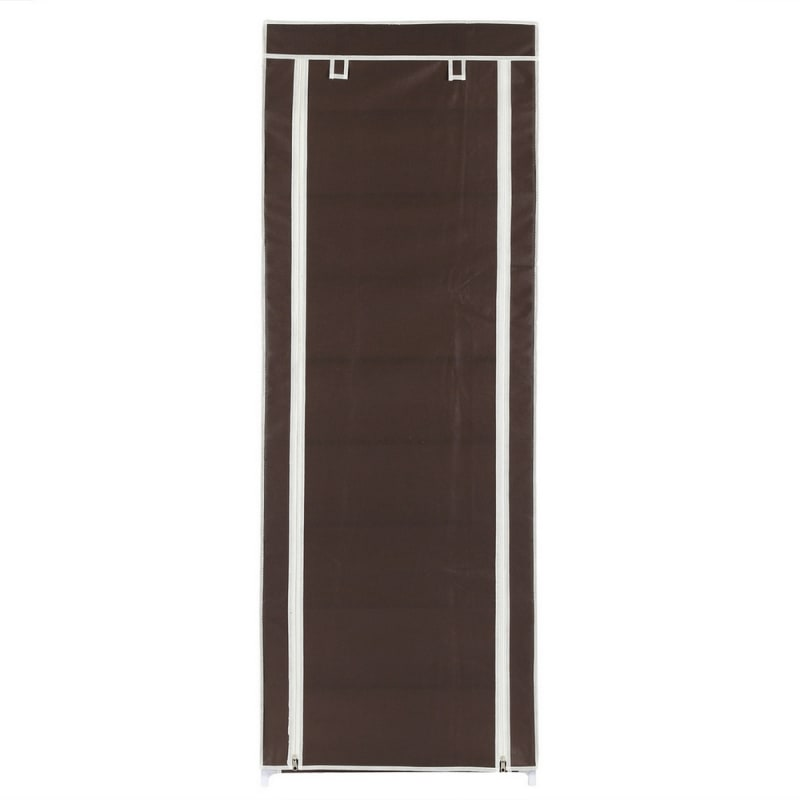 Homegear Large Free Standing Fabric Shoe Rack /Storage Cabinet V2 Dark Brown #1