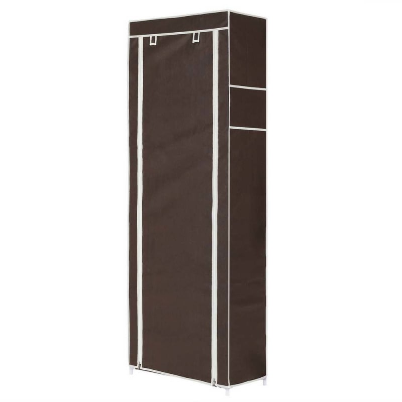 OPEN BOX Homegear Large Free Standing Fabric Shoe Rack /Storage Cabinet Dark Brown #2