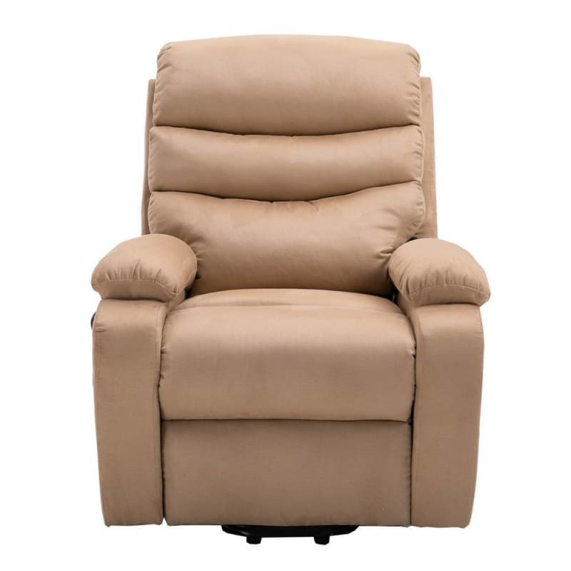 Homegear 2-Remote Microfiber Power Lift Electric Recliner Chair V2 with Massage, Heat and Vibration with Remote - Taupe #1