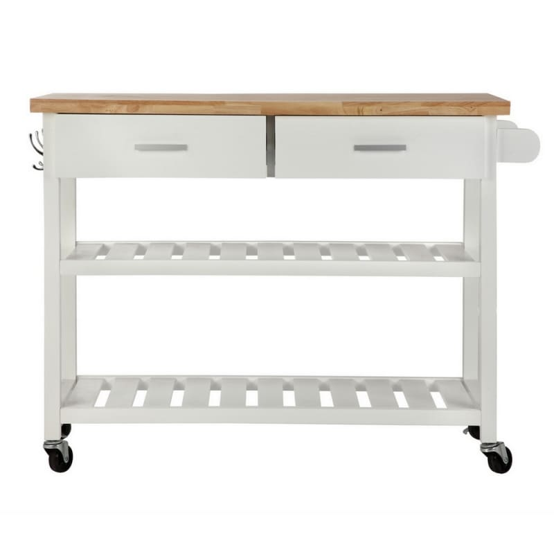 OPEN BOX Homegear Storage V2 Kitchen Cart Island White #2