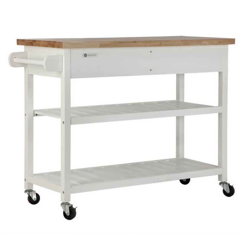 OPEN BOX Homegear Storage V2 Kitchen Cart Island White #3