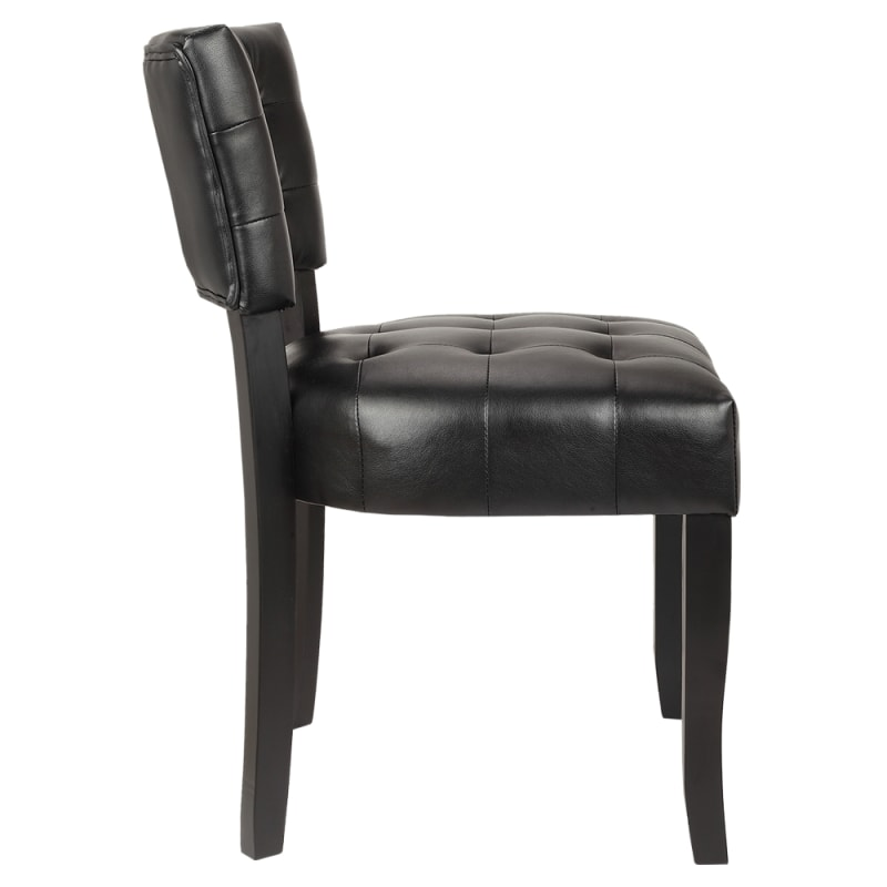 Magnificent Homegear Oversized Tufted Faux Leather Accent Chair Black Ocoug Best Dining Table And Chair Ideas Images Ocougorg