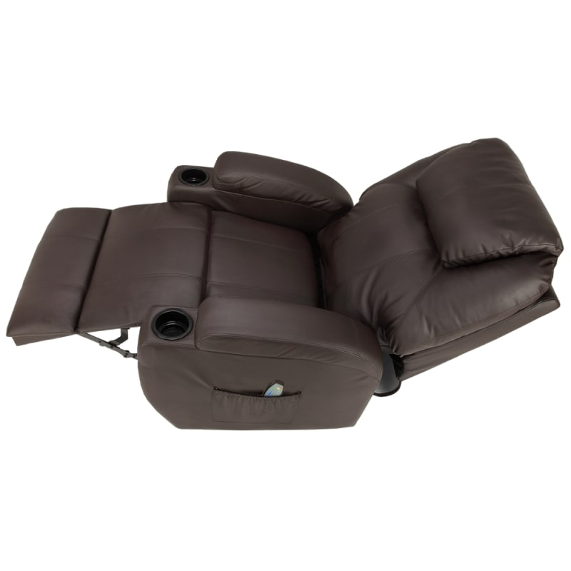 Homegear Recliner Chair with 8 Point Electric Massage and Heat - Brown #3