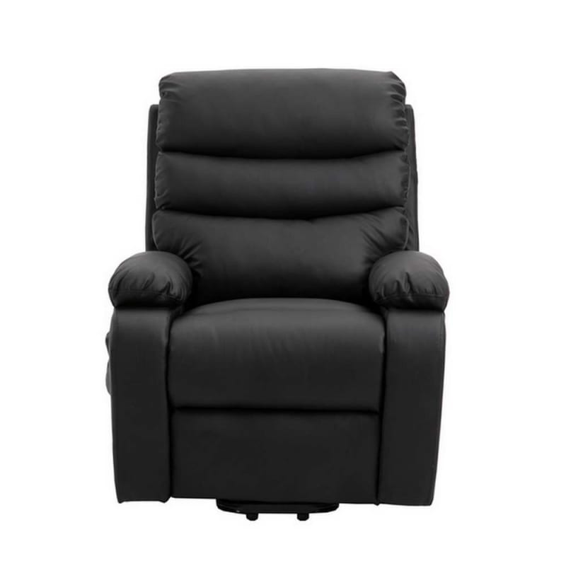 Homegear PU Leather Power Lift Electric Recliner Chair with Massage, Heat and Vibration with Remote - Black #4