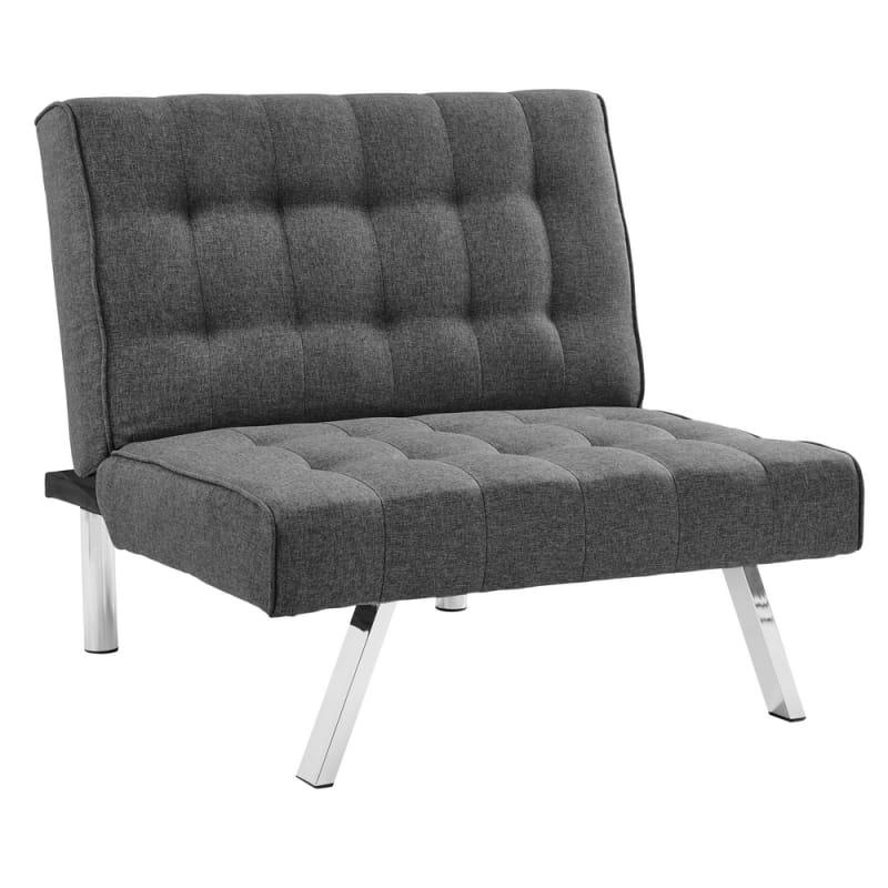 Homegear Split Back Fabric Accent Chair / Flat Recliner #