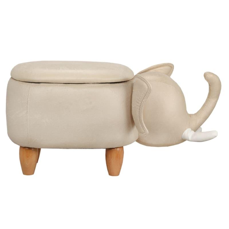 Homegear Animal Kids/Nursery Ride-On Storage Ottoman / Footrest Stool - Grey Elephant #1