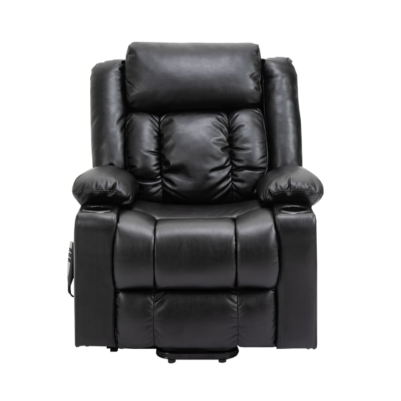 Homegear Air Leather Tri-Motor Reclining Lift Chair with Massage, Black #2