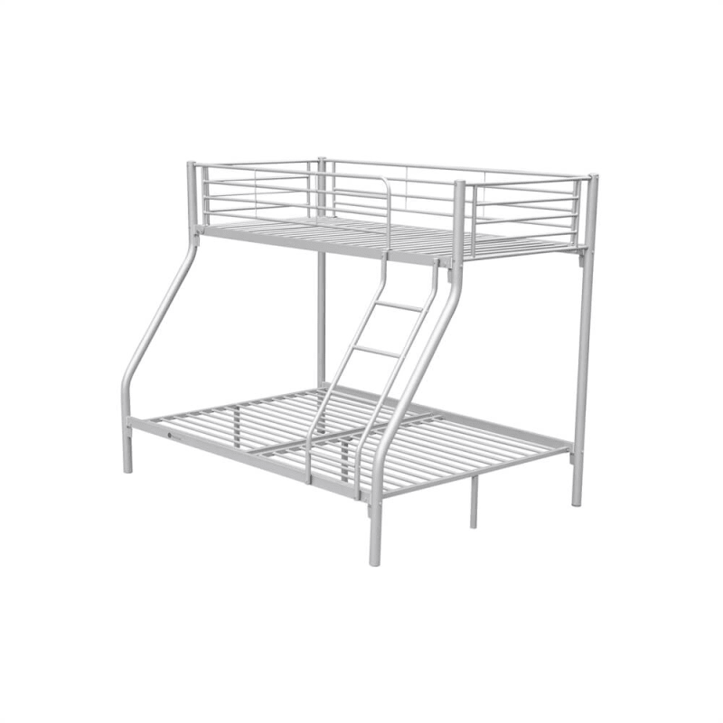Homegear Triple Sleeper Metal Bunk Bed Silver