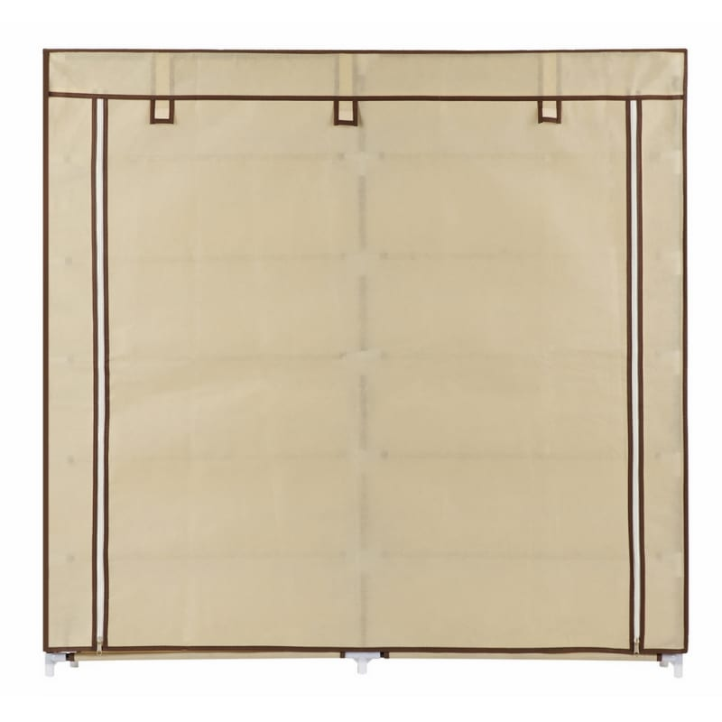Homegear XL Free Standing Fabric Shoe Rack /Storage Cabinet Cream #