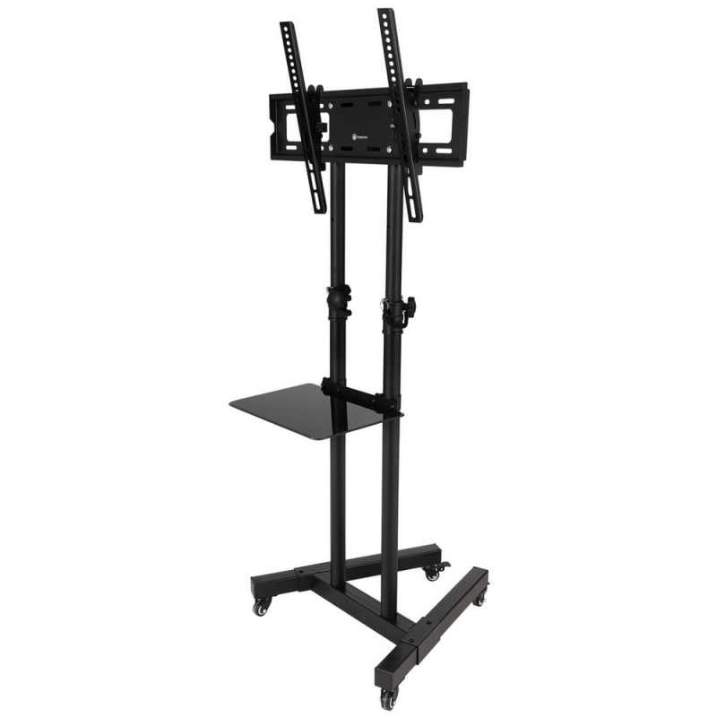OPEN BOX Homegear Portable TV Cart Stand with Height / Tilt Adjustable Universal Mount on Wheels #1