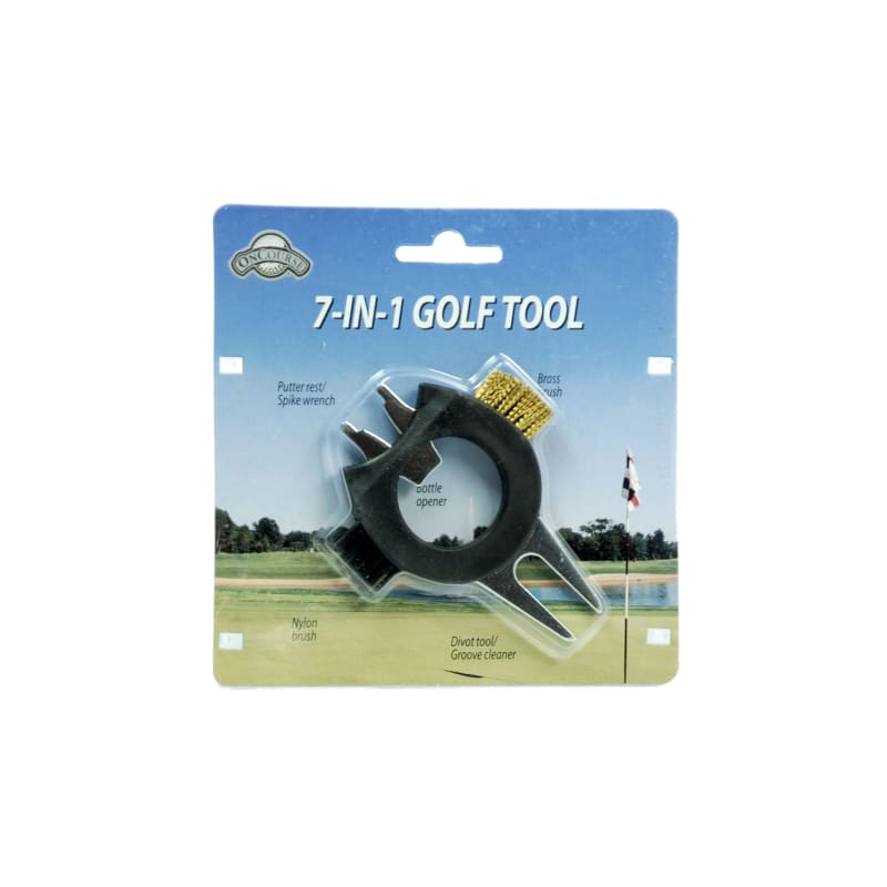 J & M On Course 7-in-1 Golf Divot Tool #