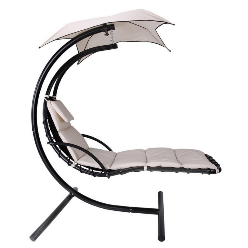 Palm Springs Outdoor Hanging Chair / Recliner Cream #2