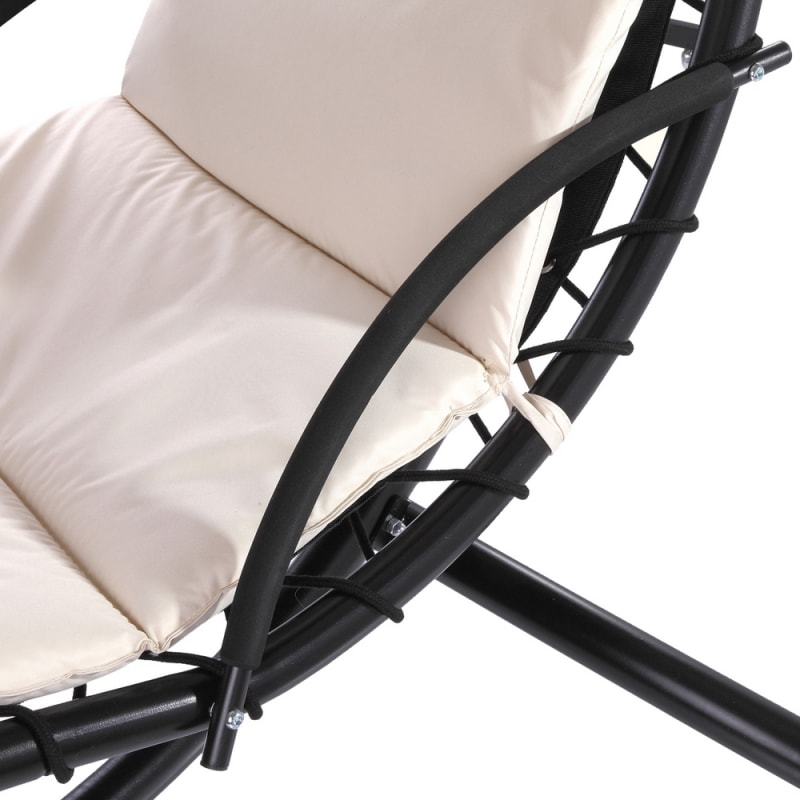 Palm Springs Outdoor Hanging Chair / Recliner Cream #6