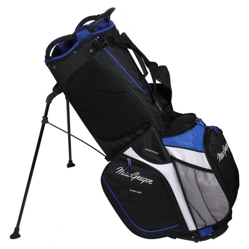 MacGregor Golf Hybrid Stand / Cart Golf Bag with 14 Way Divider, Black/Blue #3