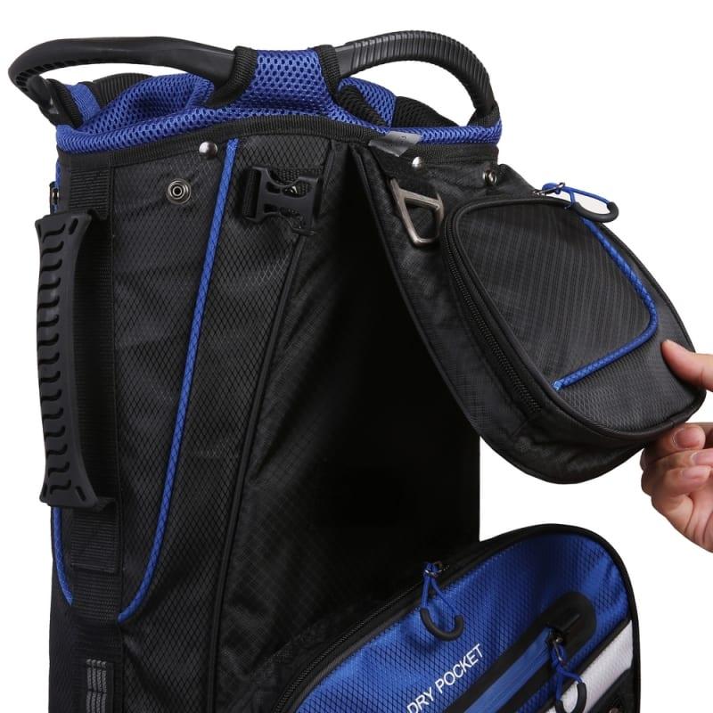 MacGregor Golf Hybrid Stand / Cart Golf Bag with 14 Way Divider, Black/Blue #4
