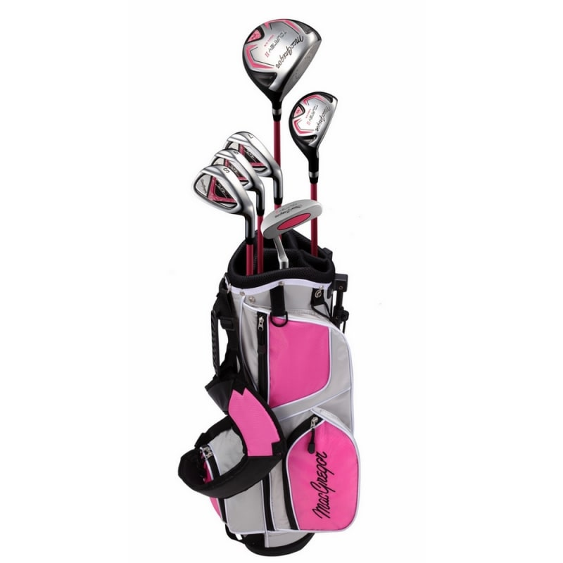 MacGregor Tourney II Junior Golf Clubs Package Set for Girls Ages 9-12