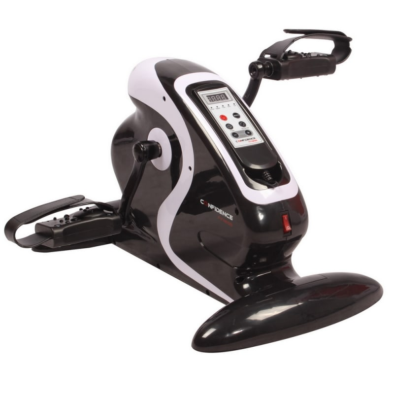 OPEN BOX Confidence Fitness Motorized Electric Mini Exercise Bike #