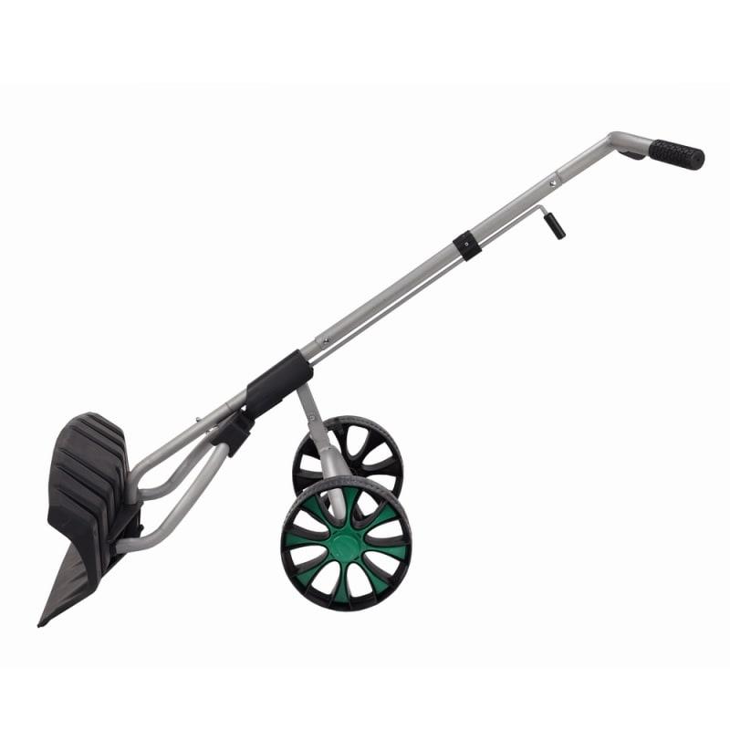 North Gear Heavy Duty Wheeled Dual Grip Snow Pusher / Snowplow #1