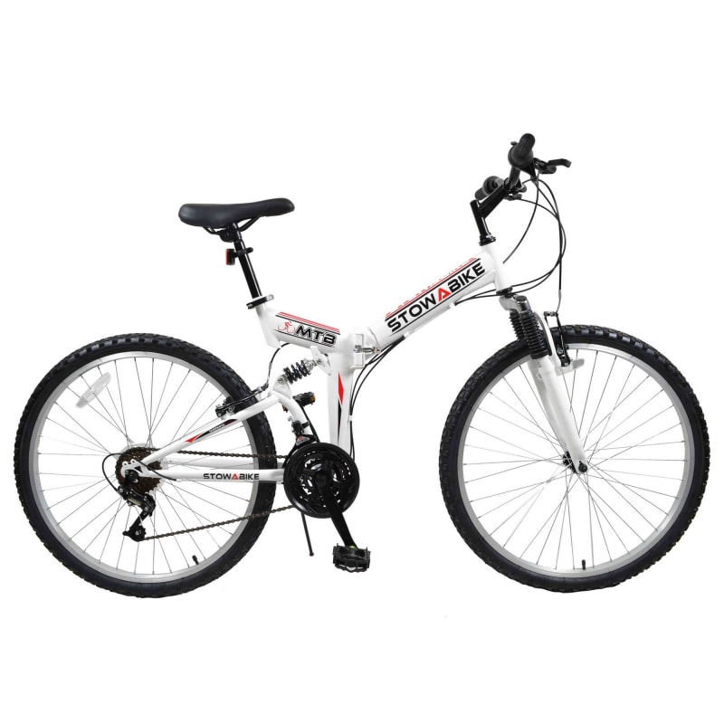 Stowabike Folding MTB V2 Mountain Bike Red / White