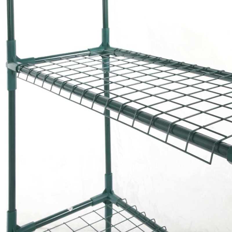 Palm Springs 6-Shelf Walk-In Greenhouse - Cover with Roll Up Zipper Door #3