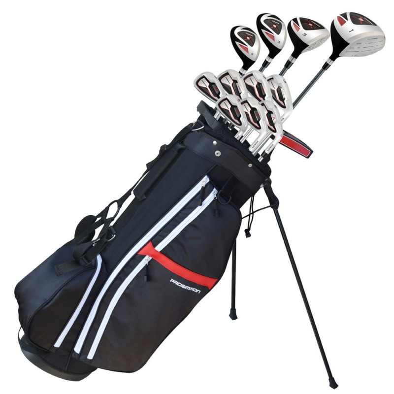 "Prosimmon X9 V2 Mens Tall +1"" Golf Clubs Set & Bag - Mens Right Hand Stiff Flex  #"