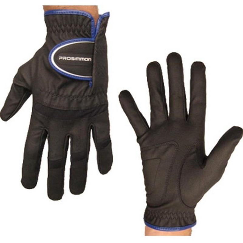 Prosimmon Mens All-Weather Left Hand Golf Gloves Black #