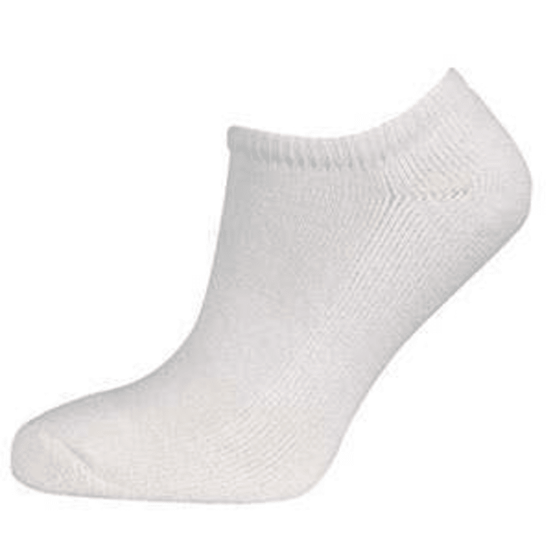 Ram Golf Ankle Socks - White - Sizes 7-9 #