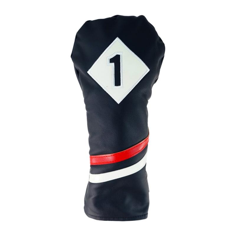 Ram Golf Premium Vintage Style PU Leather Headcovers Set, Retro Black, Driver, Fairway Woods (1,3,5) #1