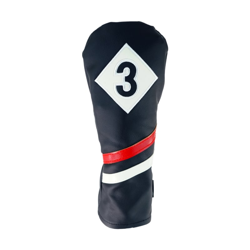 Ram Golf Premium Vintage Style PU Leather Headcovers Set, Retro Black, Driver, Fairway Woods (1,3,5) #2