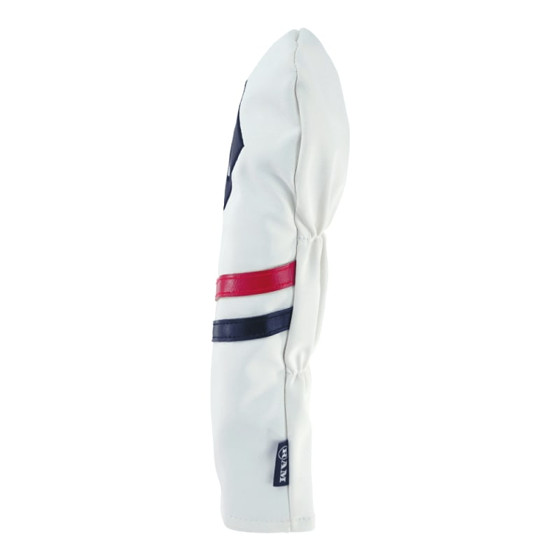 Ram Golf Premium Vintage Style PU Leather Headcovers, Retro White, 3 Wood #1