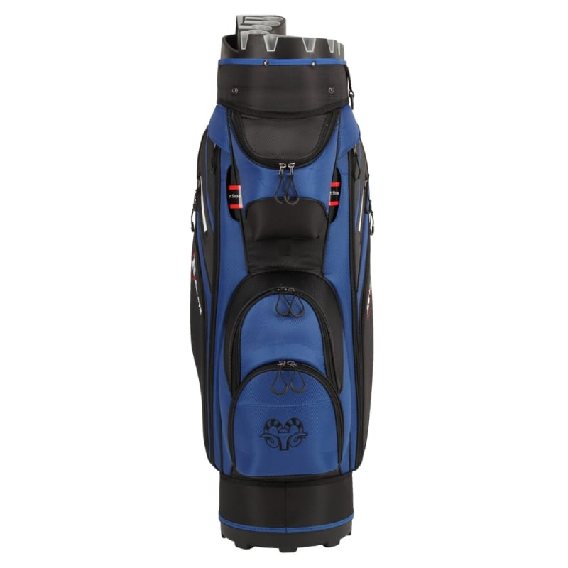 Ram Golf Premium Cart Bag with 14 Way Molded Organizer Divider Top Black Blue #2