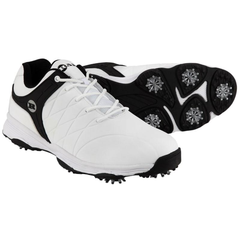 Ram Golf FX Tour Mens Waterproof Golf Shoes - White / Black #
