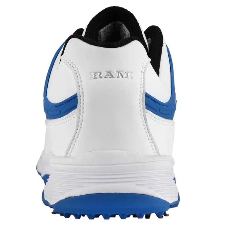 Ram Golf FX Tour Mens Waterproof Golf Shoes - White / Blue #3