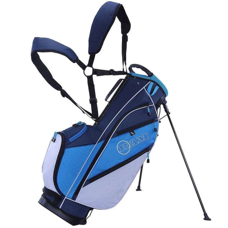 Ram Golf Lightweight Dual Strap Ladies Stand/Carry Bag - Blue/White #