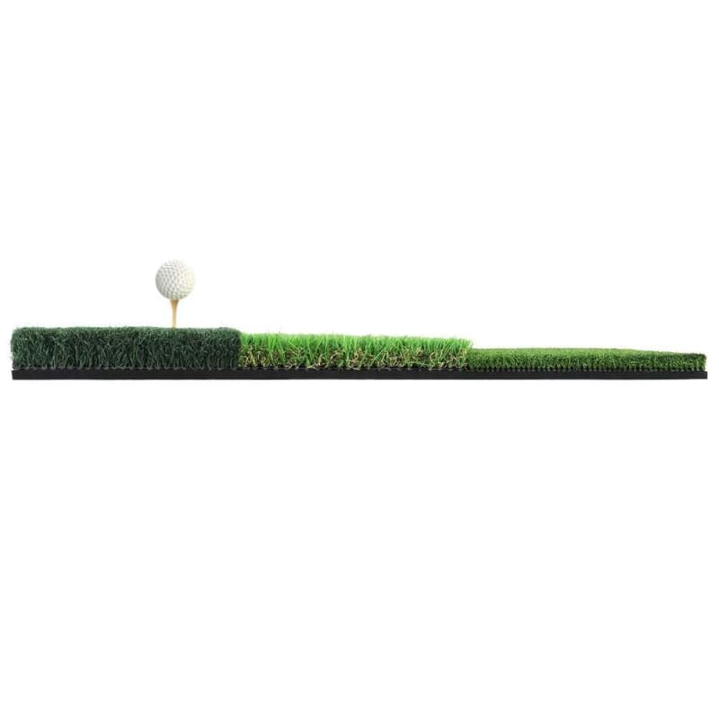 "Ram Golf Tri-Surface Practice Hitting Mat - Fairway, Rough and Tee Box - 16"" x 25"" - Drives, Approach Shots, Chips and More! #"