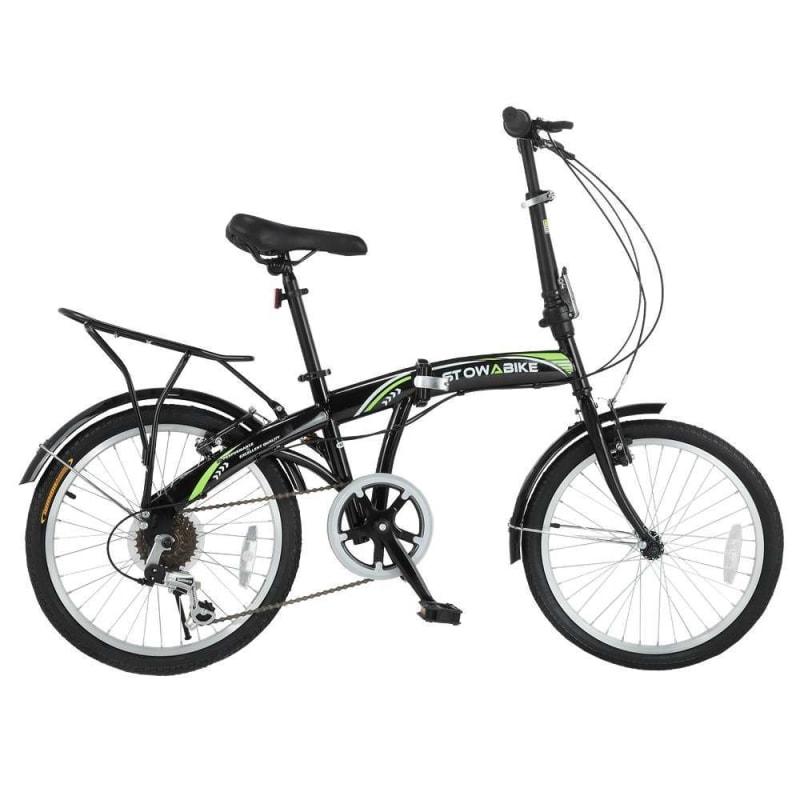 Stowabike Folding City V3 Compact Bike Black / Green