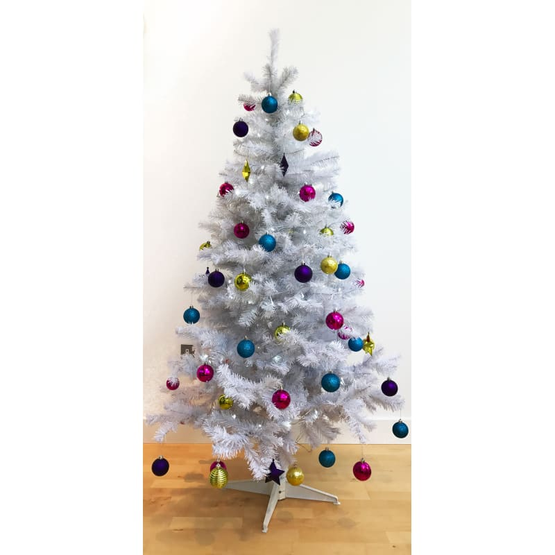 Homegear 6FT Artificial White Christmas Tree #1
