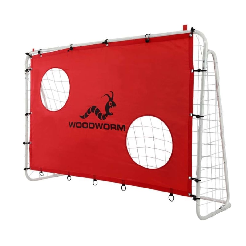 Woodworm Metal Soccer Goal - 6ft x 4ft Soccer Goal with Target Nets #