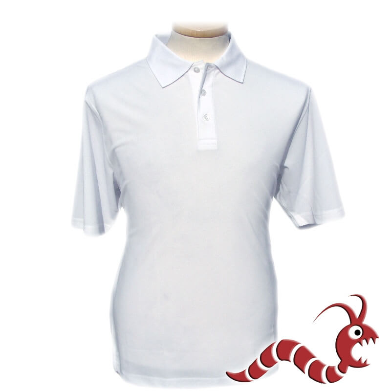 Woodworm Polo shirt Plain White