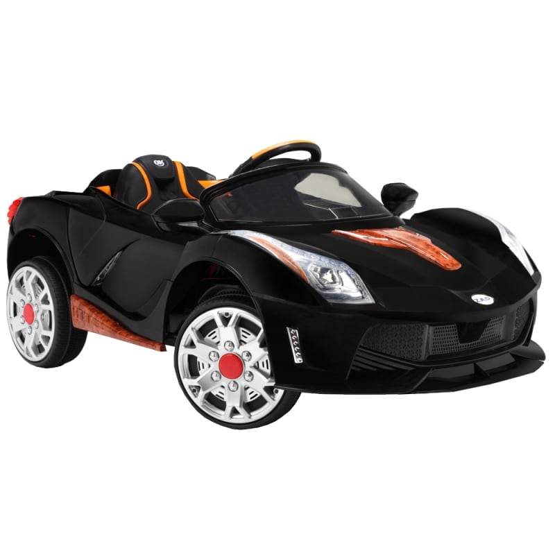 ZAAP Sports Car 12v Ride On Kids Electric Battery Toy Car Black
