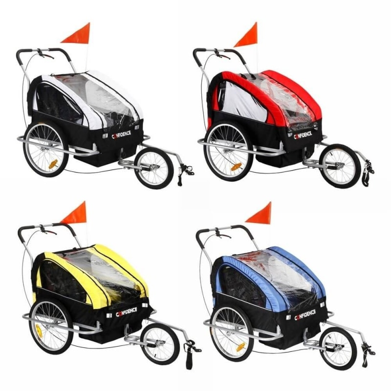 EX-DEMO Confidence 2 in 1 Baby Bike Trailer and Stroller